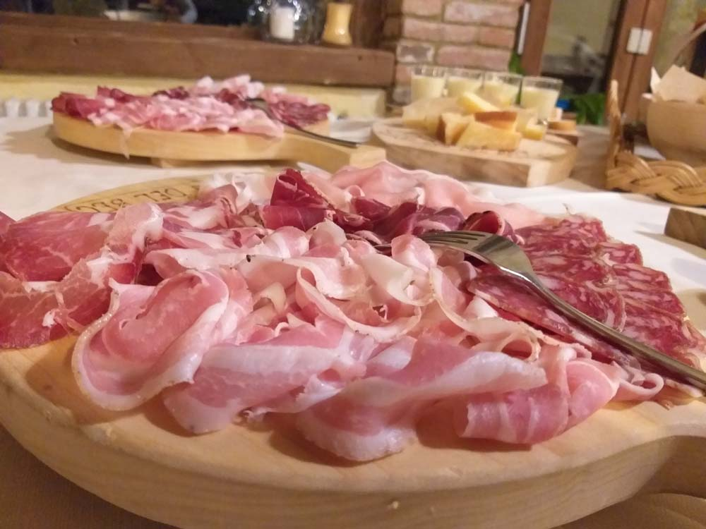 salumi, pancetta salame bresaola di manzo e coppa